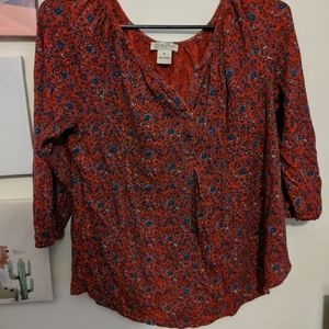 Floral patterned lucky brand shirt